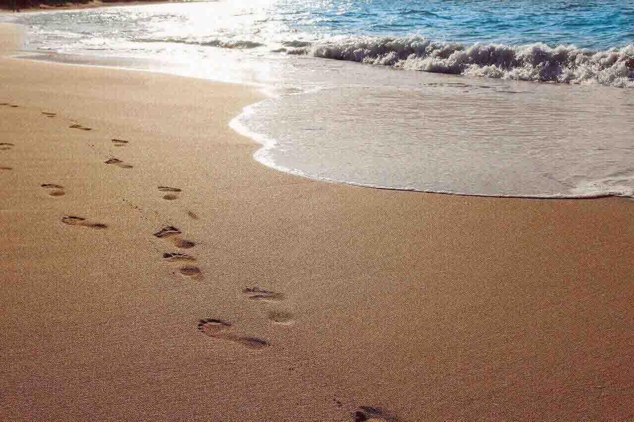 sand, beach, ocean